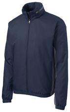 Port Authority Men's Polyester Long Sleeve Elastic Cuff Rain Winter Jacket. J330