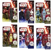 Star Wars The Force Awakens - Complete set of 6 Jungle Space 3.75 inch AF, MINT!