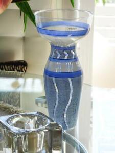 "Kosta Boda Glass Vase ""Taiga"" Snow Forests - Monica Backstrom Sweden H27cm Boxed"