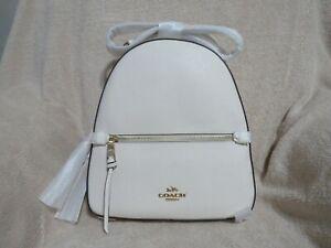 Coach Crossgrain Leather Jordyn Backpack (Chalk) - NWT (76624)