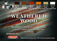 LifeColor LC-CS20 Weathered Wood Acrylic Paint Set 22ml (Pk6) Assorted