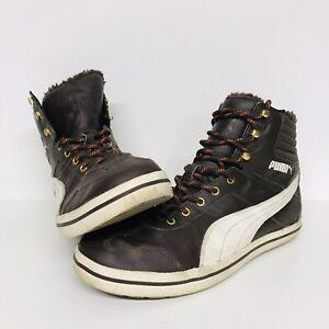 Puma Tatau Fur Lined High Tops (Hi Top) Trainers / Sneakers Size 9 *Please Read*
