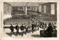 School - Fire Escape Drill  -  Training Pupils to Exit  - New York City   - 1877