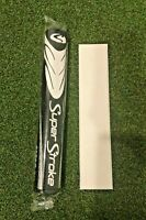 Brand New Super Stroke Fatso 5.0 Jumbo Putter Grip, Black/White w/ Grip Tape