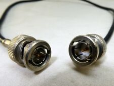 Amphenol 31-71033 BNC MALE to MALE plug jumper pigtail video cable Coaxial 3-5 '