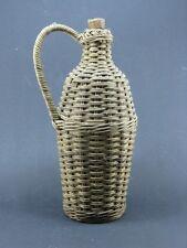 bouteille ancienne osier art-populaire deco  /vintage & antique french bottle.