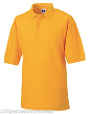 Size LARGE Jerzee 539M GOLD Polycotton Short Sleeved Pique Polo Shirt Work Wear