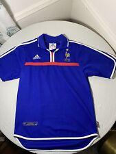 Adidas Vintage France FFF 2000 National Team Soccer Jersey Blue Mens Size S