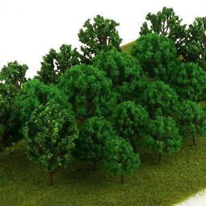 20pcs Plastic Model Trees HO Scale Railroad Scene Wargame Scenery Landscape