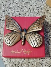 """MICHAEL HEALY """"BUTTERFLY""""OUTDOOR ART BRONZE BRAND NEW IN SEALED BOX (MHOA01)"""