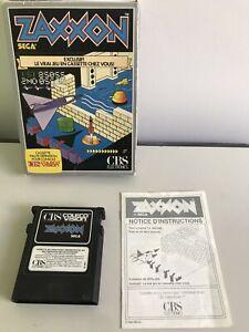 Jeux CBS Colecovision ZAXXON SEGA 1983 complet En Boîte version Française !