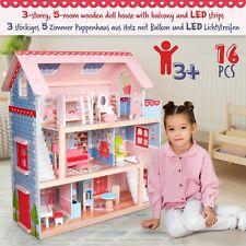 Infantastic® XXL Puppenhaus mit Möbeln / Zubehör Holz Puppenvilla Puppenstube