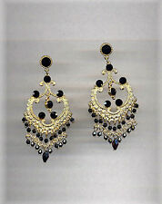 "Golden ""Old India"" Chandelier Earrings"