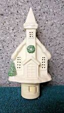 Church with Wreath night light by Cannon Falls made in China in early 2000's