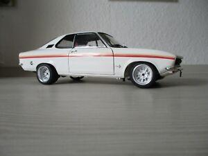 Opel Manta Swinger 1975 weiss 1:18 Norev Mit Uli Nowak Echt Alu Felgen  OVP NEU