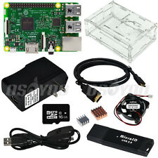 Raspberry Pi Complete Kit Pi 3 Board W/Transparent Case+Cooling Fan+2.5A Adapter