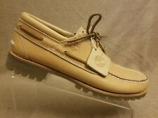 Timberland Natural Horween Men Limited Release Premium Boat Lace Up Shoes Sz 12