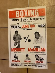 Clean Dealer Lot Of 10 Boxing Posters From 1960s And 1970s Rare And Vintage