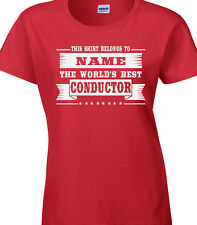 Conductor Ladies Personalised T-Shirt Gift Idea Orchestra Music Composer Writer