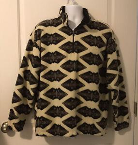 Vintage Panhandle Slim Southwest/Aztec Pullover Fleece Jacket - Men's Size L/XL