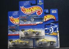3 NEW HOT WHEELS 2000 FIRST EDITIONS ROLL CAGE 091 YELLOW 31/36 RAZOR SAW BLADE