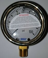 "WIKA 9310703 Industrial Pressure Gauge Liquid Filled 2.5"" 1/4 NPT Port Size"