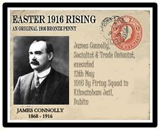 Ireland 1916 Easter Rising Commemorative Card & Coin, JAMES CONNOLLY