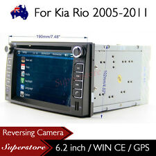 "6.2"" Car DVD Nav GPS Head Unit Stereo Radio For Kia Rio 2005-2011"