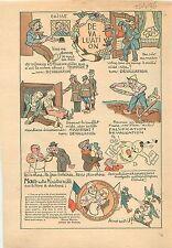 Caricature Marcel Régnier Ministre des Finances Gouvernement Pierre  Laval 1936