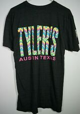 Tyler's Austin Texas Dark Heather w Multi-Color Pink Logo Men's Large T-Shirt