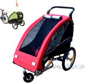 FOX Remolque plegable de bici bicicleta para niño silla paseo y cochecito carro