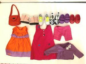"OG Doll 18"" Clothing Lot Dress Shoes Sneakers Boots Dresses Top Shorts Battat"