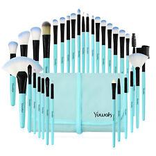 32Pcs Professional Makeup Brushes Set Eyeshadow Lip Powder Blushe Blue Style US