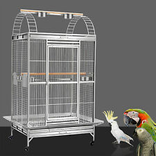 Supreme 172cm Stainless Steel Parrot Aviary Bird Cage Perch Play Top On