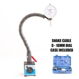 0 - 10mm Dial Indicator Gauge + Snake Shape Arm + Magnetic Base Holder  GEN 2