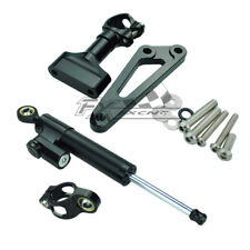 CNC Steering Damper&Stabillizer Bracket Kit CB600F HORNET 2007-2016 Black Adjust