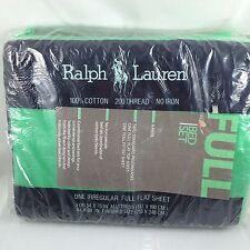 Vtg RALPH LAUREN New bed sheet set 4pc cricket green flat fitted cases FULL pkg