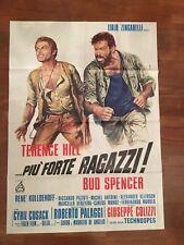 MANIFESTO,1972,PIU'  FORTE RAGAZZI TERENCE HILL BUD SPENCER COLIZZI CASARO ART H