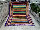 Handmade rug,Vintage Moroccan Rug,Azilal Berber Rug,Beni ourain Tribal Carpet