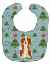 Caroline's Treasures Christmas Baby Bib, English Foxhound, Large