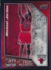 2009-10 UPPER DECK MICHAEL JORDAN 3D STARS INSERT CARD #3D-MJ  RARE  NM-MT