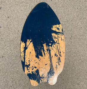 """Skim Lizard 37"""" x 20"""" Wooden Blue Splash Skim Board"""