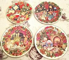 Set of 4 Royal Doulton Holiday Picture Plates Artist Jane James 1993 - 1996 Mib