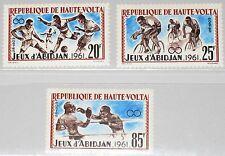 Upper Volta obervolta 1962 108-10 103-05 deportes abidjan Games Soccer boxing mnh