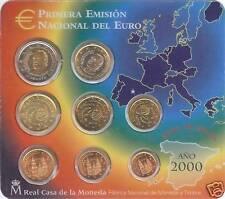 ESPAÑA SPAIN 2000. BLISTER EUROSET - 8 MONEDAS - BU SC