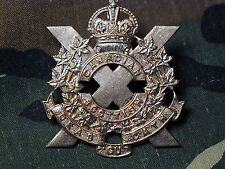 Old Original Canadian Scottish Regiment Cap badge KC Canada double lug