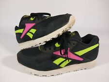 Reebok 059503 Size 8.5 Classic Women's Black Pink Neon athletic shoes
