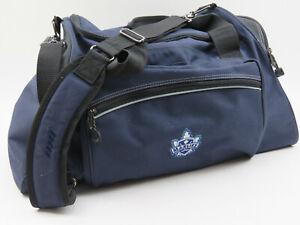 """Team Issue Toronto Marlies AHL Coach Staff Duffle Gym Travel Bag 23"""" Blue Leafs"""