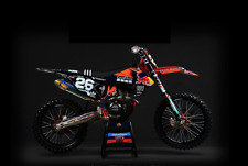 NEW KTM SXF250 350 450 2019 FACTORY TLD GO PRO graphic kit &  TLD KTM Seat Cover