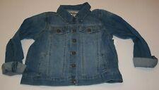 New OshKosh Girls Denim Blue Jean Jacket 10 12 Year Snaps Down Front Pocket Flap